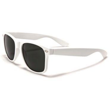Sluneční brýle styl wayfarer bílé
