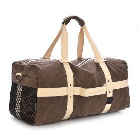 MJH plátěná cestovní taška 40l Hnědá