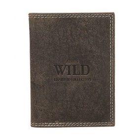 Always Wild kožená Dokladovka Hnědá