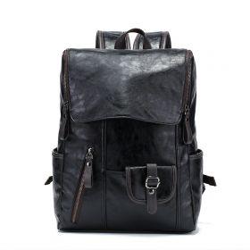 Černý koženkový batoh Represser 25 L