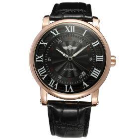 Pánské automatické hodinky Winner Gentle Black