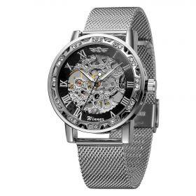 Winner mechanické hodinky Diomond Silver JS18