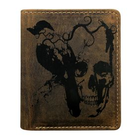 Always Wild pánská kožená peněženka Skull and Crow