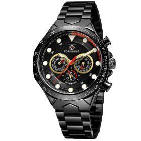 FORSINING pánské automatické hodinky Manful M4T3 Černé