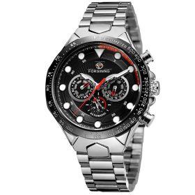 FORSINING pánské automatické hodinky Manful M4T5 Stříbrné