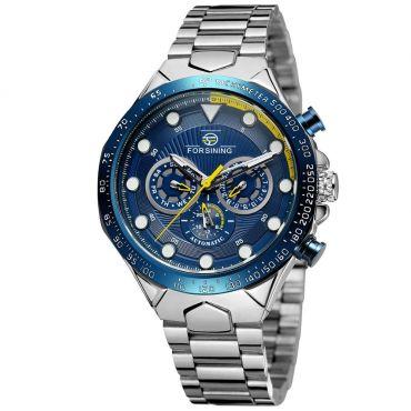 FORSINING pánské automatické hodinky Manful M4T7 Modré