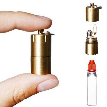 Benzinový mini zapalovač Ultron- Mosazný