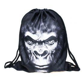 Plátěný vak s 3D potiskem Gorila