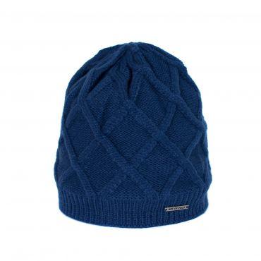 Klasická pletená čepice Figures modrá