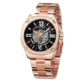 T-Winner pánské automatické hodinky Cesar WRG8184 Rose Gold