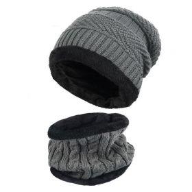 Zimní set 2v1 nákrčník a čepice Šedý