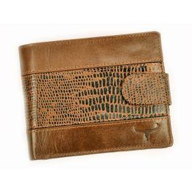 BUFFALO pánská kožená peněženka Fabio Hnědá