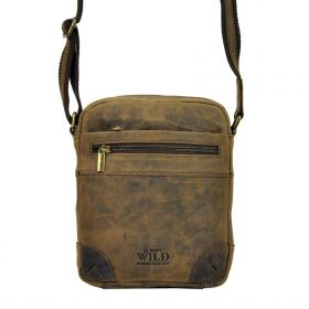 Always Wild pánská kožená taška Jacopo Hnědá