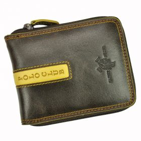 Harvey Miller pánská kožená peněženka PASCAL Hnědá