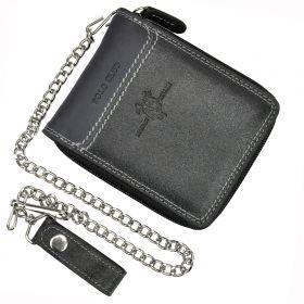 Harvey Miller pánská kožená peněženka GUY Černá