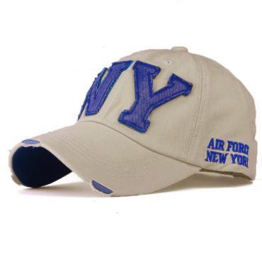 ANG-E kšiltovka s nápisem NY Béžová