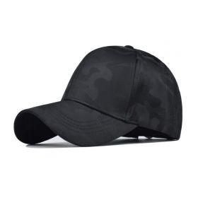 Bavlněná Kšiltovka Kamufláž Černá