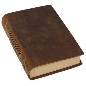 Zápisník - Diář z pravé kůže 19x14 cm Traditional Hnědý