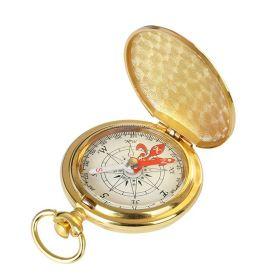 Survival retro kapesní kompas Zlatý
