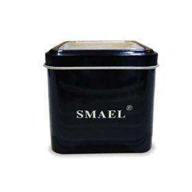 Smael kovová dárková krabička na hodinky Černá