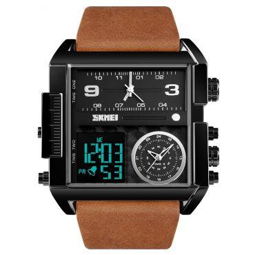 SKMEI 1391 duální hodinky 3 times Black Hnědé