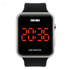 Skmei 1176 unisex LED hodinky Red Fusion Stříbrné