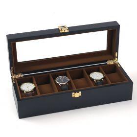 Organizér na hodinky 6 komor Černý + hnědý