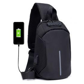 Pánský batoh přes hruď USB Sling Černá