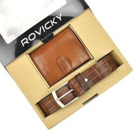 Rovicky pánská dárková sada peněženka a pásek Roque