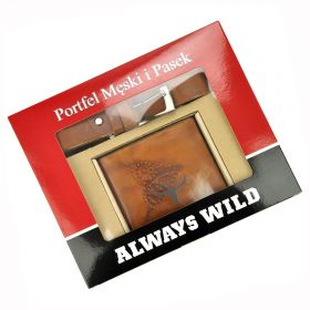 Wild pánská dárková sada s páskem Buffalo Khaki
