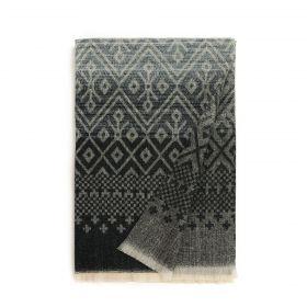 Pánská šála Gradient i geometrie Černý