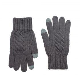 ArtOfPolo minimalistické pánské rukavice L splot Šedé